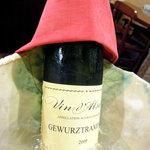 ワインと料理 Soleil  - ゲヴルツトラミネール2009年モノ