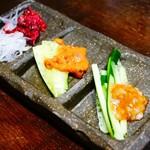 炭と日本酒 仁 - 仁の肴盛3種