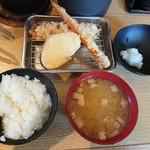 天ぷら さいとう 博多 - さいとう定食、天ぷら前半