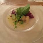 食の円居 なず菜 - 水茄子と揚げ鱧のサラダ