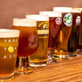 世界各国の樽生クラフトビールを10種類以ご用意!