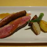 レ・フルシェット - 岩手県産真鴨のポワレ 季節の野菜添え