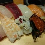 藤左エ門 - 寿司・天ぷらセットの寿司