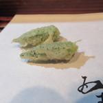 天ぷら酒房 西むら - オクラ
