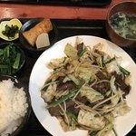 むちゃく - 牛肉野菜炒め定食=800円