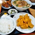 中華料理 喜多郎 - 鶏マヨ定食(選択ラーメンは豚骨台湾)