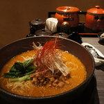 担担麺 利休 - 新味と薬味セット