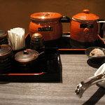 担担麺 利休 - 薬味セット