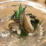 魚こう鮨 - あわびの煮付け