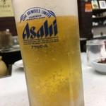 串ホルモン 串源 - 生ビール
