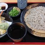 淡味亭 - 料理写真:2018年8月 天ざるそば大盛り(1000円)