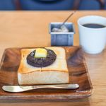 パン屋むつか堂カフェ - 塩あんバタートースト、ドリップコーヒー
