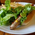 Ailes Cafe - ハーブスペシャル half 野菜とフライドポテト付