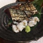 いだき - 料理写真:鰹の塩たたきwithとり貝