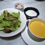 9102689 - スープ・サラダ・温泉卵
