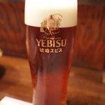 軍鶏丸 - ヱビス琥珀生ビール