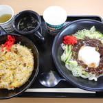 岩手山サービスエリア(下り線)スナックコーナー - とろ玉じゃじゃ麺&ミニ炒飯¥780-