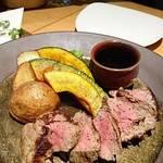 YEBISU BAR - YEBISU BARのおつまみ牛ヒレステーキ     ¥1680