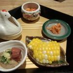 sushidokorokitanohana - 5品の小鉢