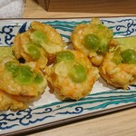 割烹 熊谷 - 海老の揚げ物