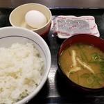 なか卯 - こだわり卵朝定食(税込250円)