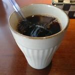 南蛮堂珈琲 - 食後のアイスコーヒー
