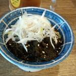 大衆鳥酒場 鳥椿 - 温玉もずく(350円)