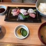 kyoutangochisanshokudouajikouboukaisenhisami - 刺身定食