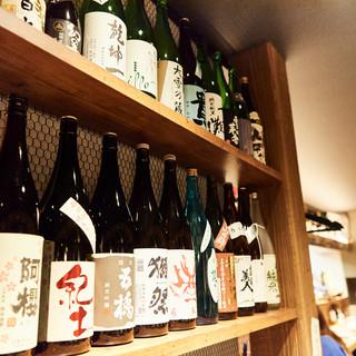 全国から厳選した種類豊富なお酒をご用意しております。