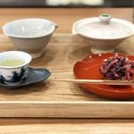 茶菓 えん寿 - 玉露と上生菓子のセット850円+税('18.8月中旬)
