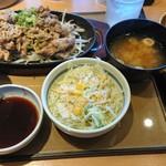 やよい軒 - 料理写真:特盛牛焼肉定食+納豆