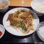 91037955 - レバニラ定食