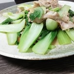 中国菜館 嘉門 - 豚バラ青梗菜¥600
