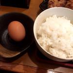 やまや - 卵を貰って卵かけご飯に…