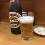 とんかつ山家 - 真夏の昼ビール 堪りません!