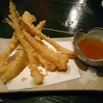 創食家 縁 - 島らっきょうの天ぷら