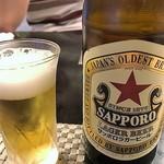 天ぷら 飛鳥 - ビールは赤星!