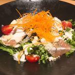 チーズとお肉の個室バル YOKUBALU - アボカドと生ハムのシーザーサラダ