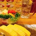 風来坊 - サラダとだし巻き