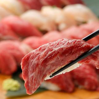 厳選肉寿司食べ放題プラン飲み放題付3980円