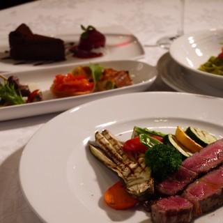 ディナーはちょっと豪華にイタリアンコース