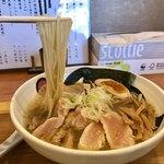 小麦蕎麦処 四天王寺 五常 - 地鶏と蛤の塩そば¥1000(数量限定)