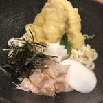 udonizakayaamamenzou - ミニ明石天盛りぶっかけうどん  あっぷ