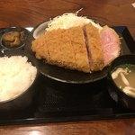 キセキ食堂 - キセキ定食のカツの全体像