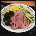 91069243 - 黒酢醤油冷し麺 530円