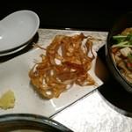 鶏Soba 座銀 - ごぼうとおろし生姜