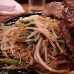 グリル ピエロ - ミックス定食(もやし炒め)