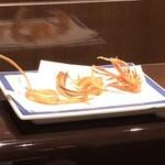 天ぷら ひさご - 穴子の骨、海老の頭