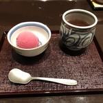 天ぷら ひさご - 葡萄のシャーベット