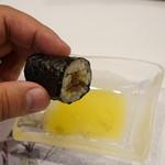 寿司割烹・難波 - オリーブオイルで